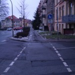 Übergang Radweg zum Gehweg Radfahrer frei