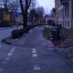 Benutzungspflichtiger Radweg in Richtung Mecklenburger Straße