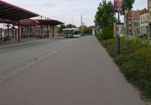 Radweg endet am Zaun