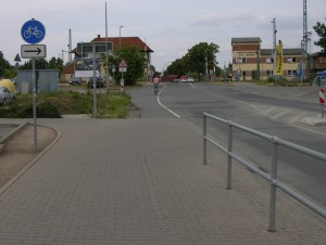 Radfahrer sind Fußgänger in Mewcklenburg