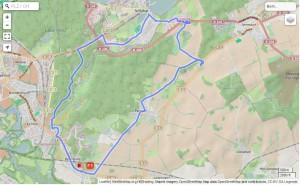gefahrene Route, Karte Openstreetmap