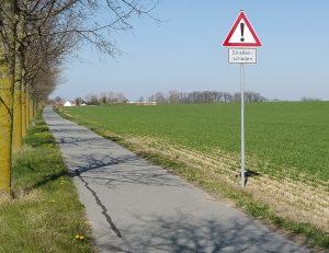 Schild Radwegschädern